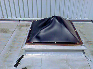 Uv degraded PVC pyramid Rooflights replaced.