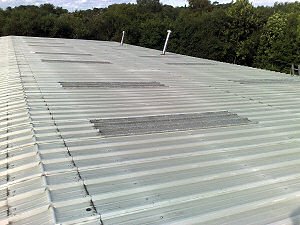 Orion Alloys, Harlow, Essex warehouse rooflight replacement.