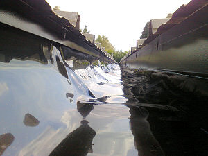 50 Linear Metres of leaking valley gutter
