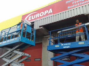 Repairs to lorry loading bay canopy cladding and soffit sheeting